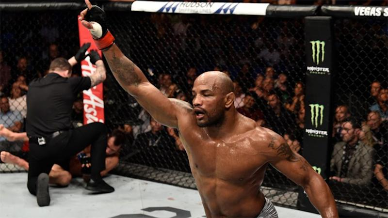 Romero got the TKO win thanks to a vicious left hook. Pic: UFC