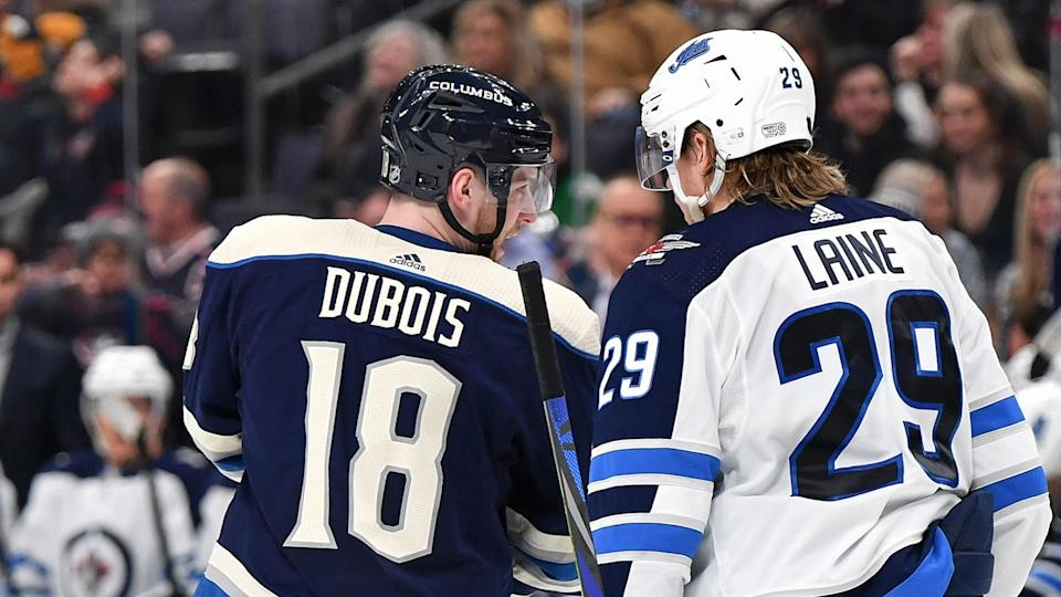 Pierre-Luc Dubois is headed to Winnipeg in exchange for Patrik Laine in a blockbuster deal. (Photo by Jamie Sabau/NHLI via Getty Images)