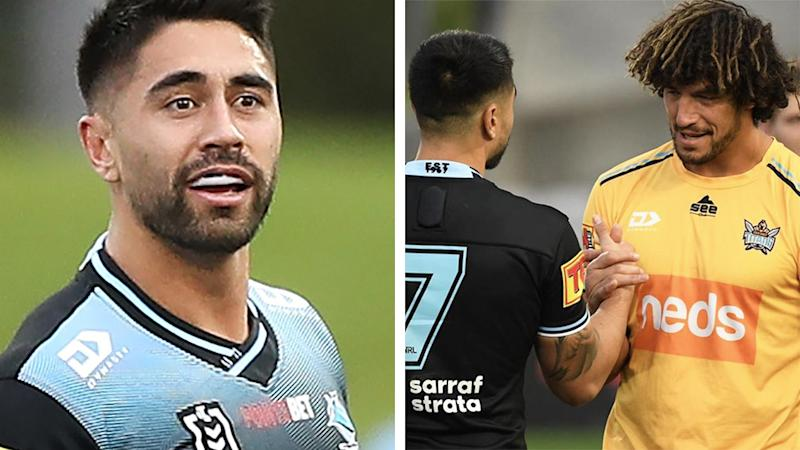 Cronulla Sharks star Shaun Johnson has published a post on Instagram, explaining his reaction to the Kevin Proctor biting incident and vowing to support the Gold Coast Titans veteran at the judiciary. Pictures: Getty Images/Instagram