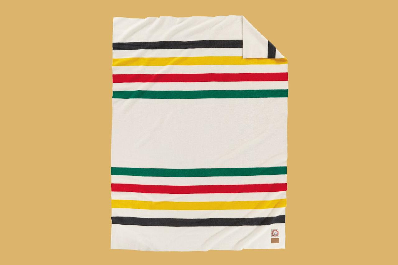 """<p>This Pendleton blanket is iconic, classic, unbelievably warm—it's perfect for snuggling up with your loved ones and pretending you have a wood-burning stove.</p> <p><em><strong>Shop Now</strong>: Pendleton Glacier National Park Blanket, $259, <a href=""""https://www.amazon.com/Pendleton-Glacier-National-Park-Blanket/dp/B003EQ4AY4/ref=as_li_ss_tl?ie=UTF8&amp;linkCode=ll1&amp;tag=mslhomecabininspireddecorhbdec19-20&amp;linkId=0abf8fa90552dd7cc1e6622858c5cc96&amp;language=en_US"""">amazon.com</a>.</em></p>"""
