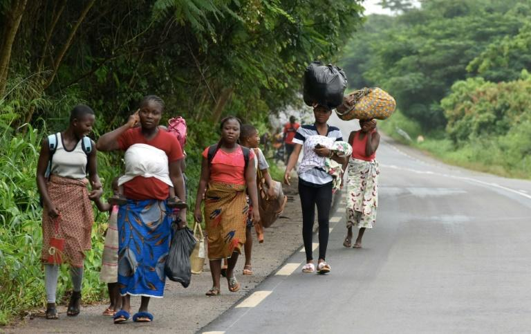 Exodus: Residents flee Bongouanou in east-central Ivory Coast after inter-community clashes ahead of Saturday's elections