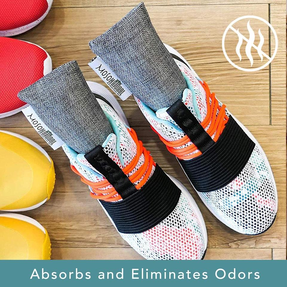 """Keep thesein the mudroom and make a house rule that your kid with the stinkiest feet puts in their shoes as soon as they kick 'em off. It may even make those shoes last longer!<br /><br /><strong><a href=""""https://www.amazon.com/gp/product/B0099K6OVQ?&linkCode=ll1&tag=huffpost-bfsyndication-20&linkId=89ca2a37c7c8fa411bb8359f6806ce24&language=en_US&ref_=as_li_ss_tl"""" target=""""_blank"""" rel=""""noopener noreferrer"""">Get a pair from Amazon for $9.95.</a></strong>"""