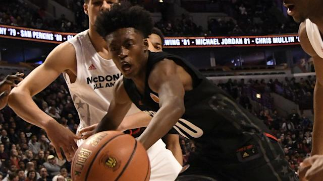 Collin Sexton was selected by the Cleveland Cavaliers, who used pick eight in the NBA Draft.