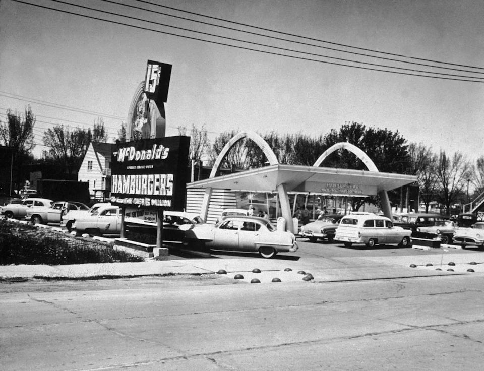 <p>Before it was a drive-thru, McDonald's was a drive-in—and here's what a typical location would look like in the late '50s when burgers only cost 15 cents.</p>