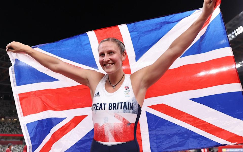 Bradshaw is all smiles after securing her first Olympic medal - GETTY IMAGES