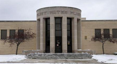 The front of the Flint Water Plant is seen in Flint, Michigan January 13, 2016.  REUTERS/Rebecca Cook