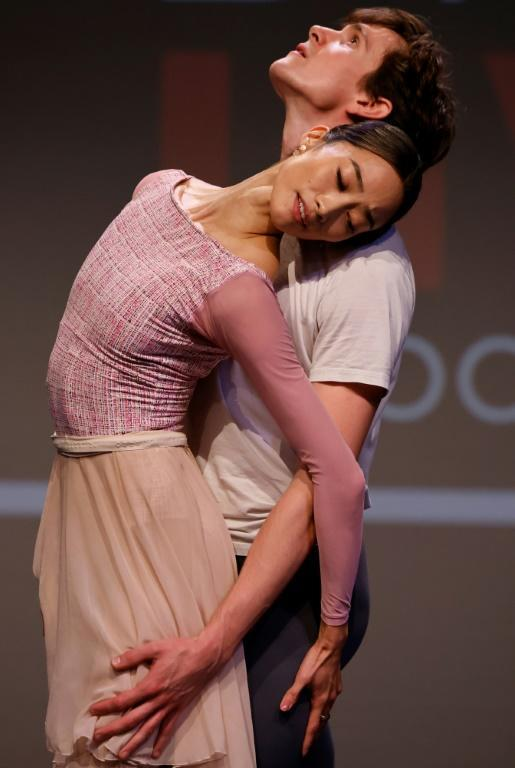 Dancers are welcoming the first in-person audiences for more than a year (AFP/Tolga Akmen)