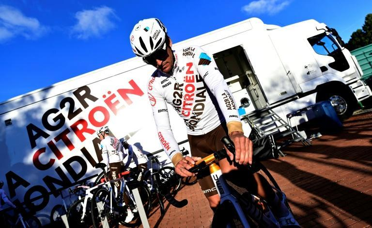 Greg Van Avermaet sports the new Citroen-AG2R outfit on his (Olympic Champion's) gold bike