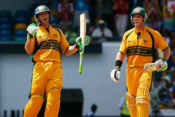 Image result for adam gilchrist and matthew hayden