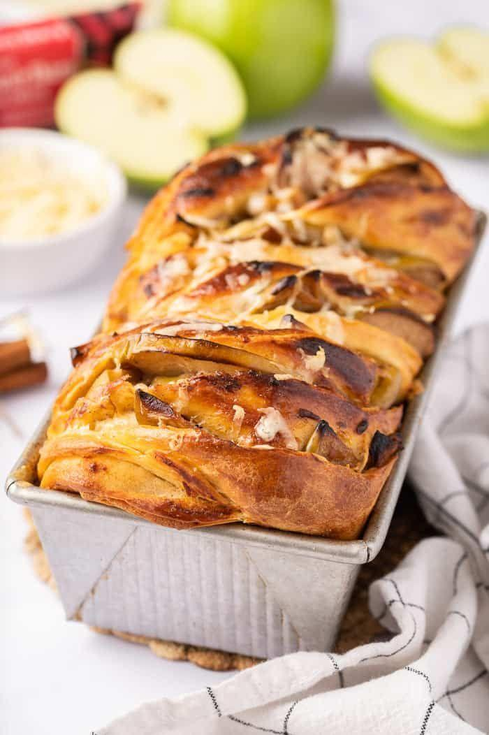 """<p>The combination of apples and cheddar is surprisingly delicious—it's sweet, savory, and perfect for any fall occasion. </p><p><strong>Get the recipe at <a href=""""https://aclassictwist.com/apple-cheddar-twist-bread/"""" rel=""""nofollow noopener"""" target=""""_blank"""" data-ylk=""""slk:A Classic Twist"""" class=""""link rapid-noclick-resp"""">A Classic Twist</a>.</strong></p>"""