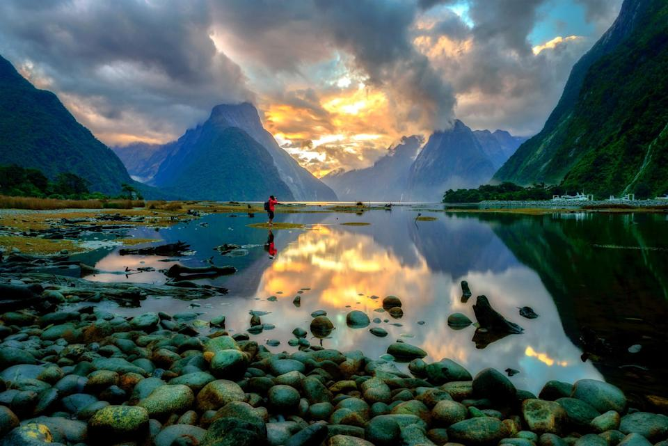 Mulford Sound in New Zealand.