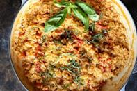 """<p>Show the fancy restaurant dish who's boss.</p><p>Get the <a href=""""https://www.delish.com/uk/cooking/recipes/a33976260/sun-dried-tomato-risotto/"""" rel=""""nofollow noopener"""" target=""""_blank"""" data-ylk=""""slk:Sun Dried Tomato Risotto"""" class=""""link rapid-noclick-resp"""">Sun Dried Tomato Risotto</a> recipe.</p>"""