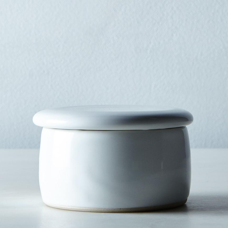 """<p>Sometimes the best things come in small packages, like this chic little butter keeper. This best-selling French ceramic crock requires zero refrigeration and maintains the freshness of spreadable butter by using water to create an airtight seal.<br /><strong><a rel=""""nofollow"""" href=""""https://fave.co/2QJI3bf"""">Shop it:</a></strong> $50, <a rel=""""nofollow"""" href=""""https://fave.co/2QJI3bf"""">food52.com</a> </p>"""