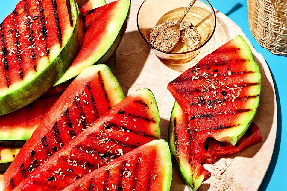 Grilled Watermelon with Chamomile Cocoa Salt