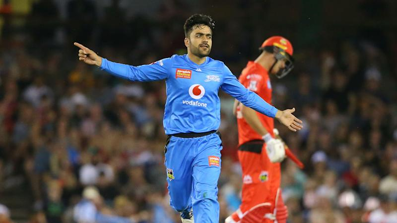 Rashid Khan shows off camel-shaped bat in Big Bash League