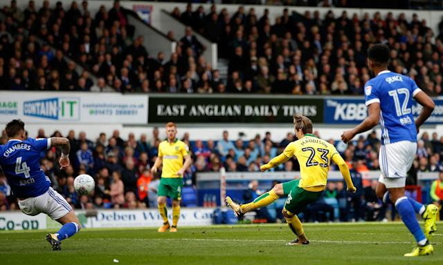 James Maddison scores the only goal in the 59th minute as Norwich City win 1-0 at Ipswich Town.