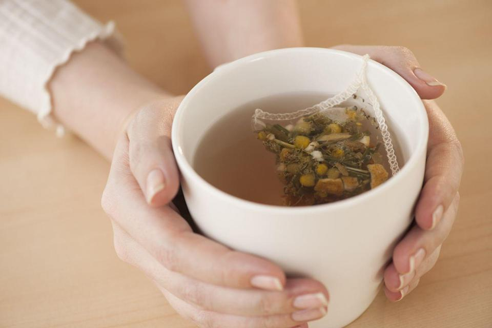 "<p>Just imagine settling down with a hot cup of tea at night. Not only is the act of itself relaxing, but there's also <a href=""https://www.healthline.com/nutrition/10-herbal-teas"" rel=""nofollow noopener"" target=""_blank"" data-ylk=""slk:research to show"" class=""link rapid-noclick-resp"">research to show</a> that herbal teas like chamomile naturally calm the body to induce sleep. </p>"