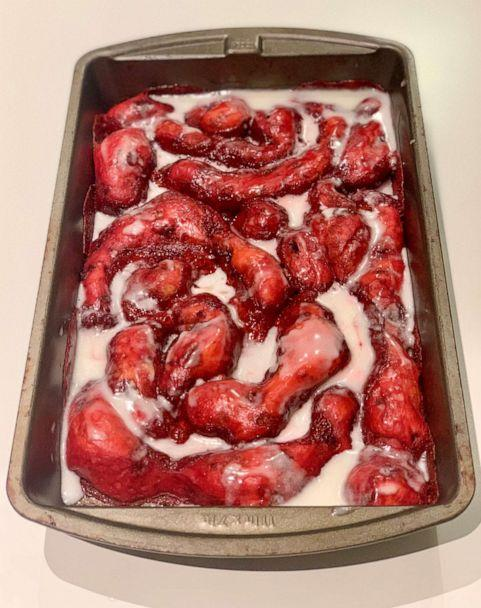PHOTO: I made Pinterest's top trending Halloween recipes, which included Zombie Guts Cinnamon Rolls. ( )