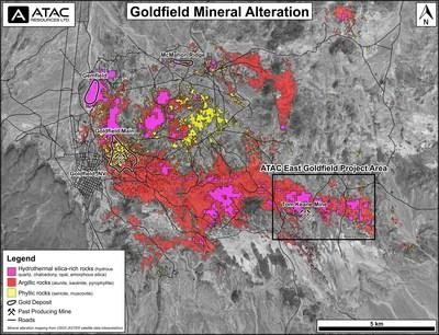 East Goldfield Mineral Alteration Map (CNW Group/ATAC Resources Ltd.)