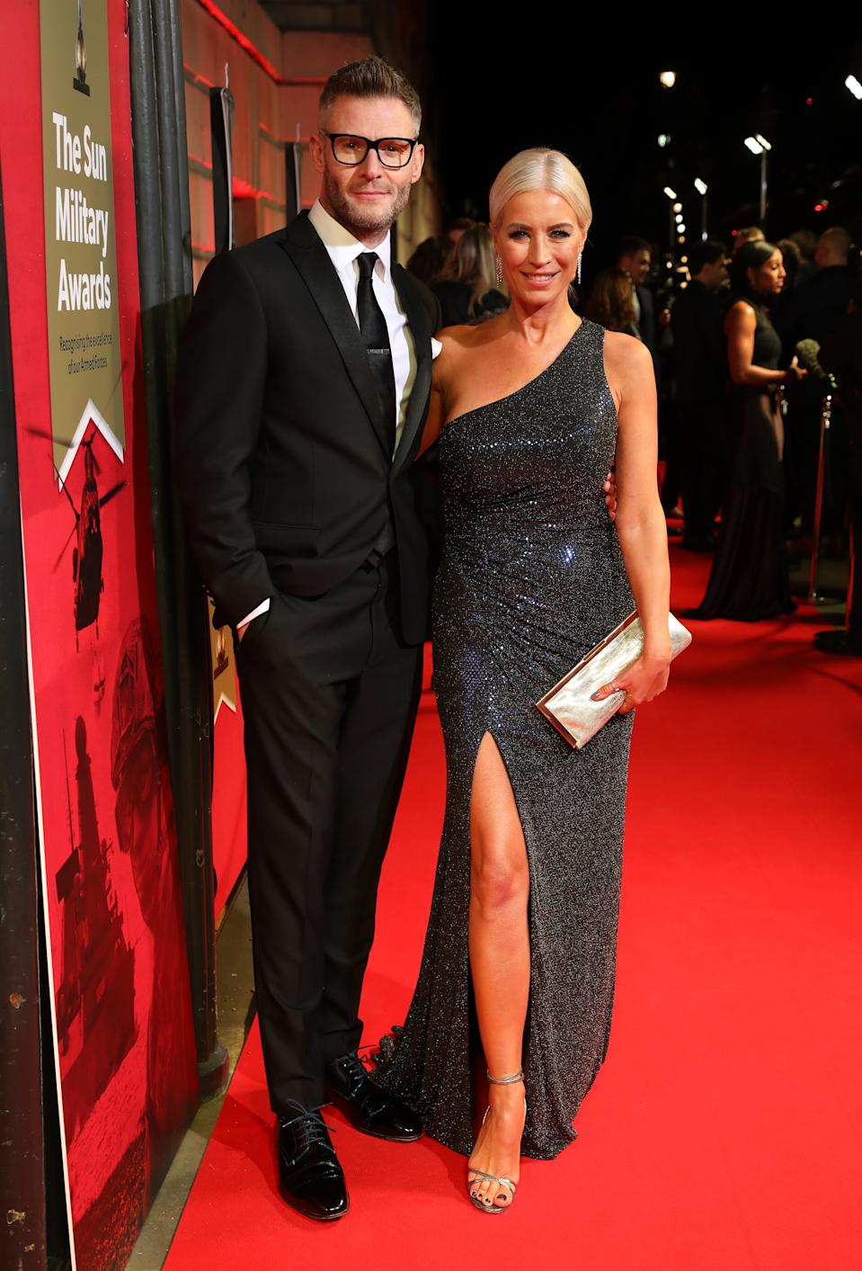 Eddie Boxshall and Denise van Outen attending The Sun Military Awards 2020 held at the Banqueting House, London. (Photo by David Parry/PA Images via Getty Images)