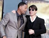 <p>Will Smith poses with actor Tom Cruise as Smith is honored with a hand and footprint ceremony at Grauman's Chinese Theatre December 10, 2007 in Los Angeles, California.</p>