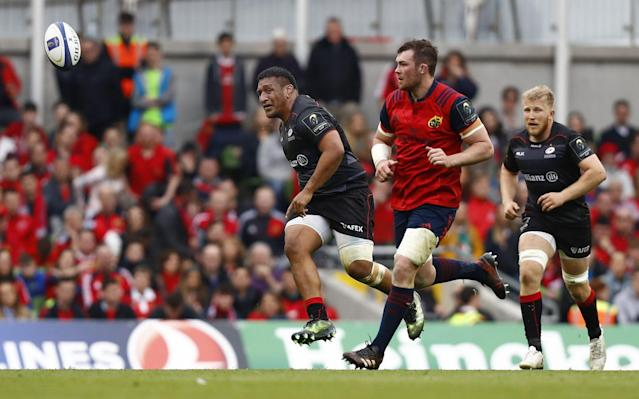 Mako Vunipola helped kick Munster into touch on Saturday afternoon - Rex Features