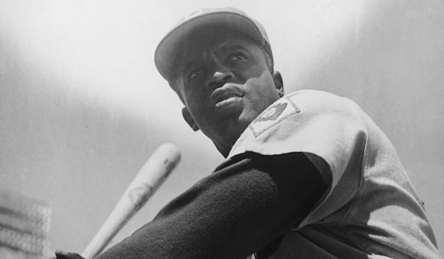 """Jackie Robinson <span class=""""copyright"""">(Curt Gunther / Getty Images)</span>"""