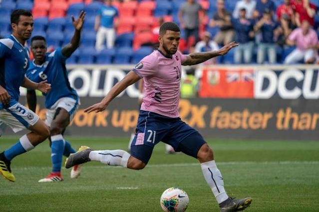 Nahki Wells (pictured June 2019) scored twice as QPR beat London rivals Millwall 2-1 (AFP Photo/Don Emmert)