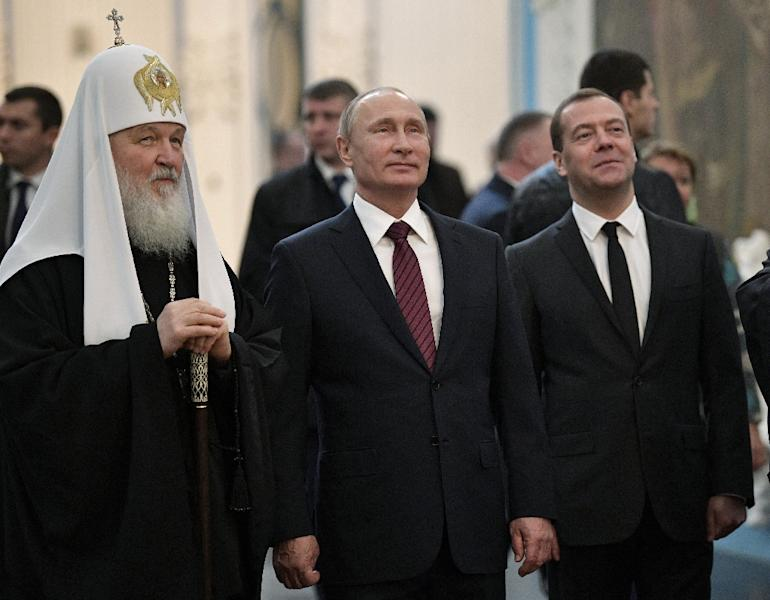 Patriarch Kirill is considered to be a close Kremlin ally and has supported Putin in his views (AFP Photo/Alexey NIKOLSKY)