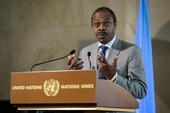 Former health minister Oly Ilunga of the Democratic Republic of Congo has been formally charged with embezzling funds alloted for the fight against Ebola (AFP Photo/FABRICE COFFRINI)