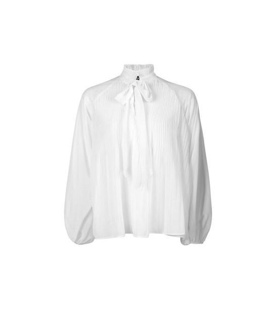 """<p>Polly Pleated Chiffon Ruffle Neck Blouse, $35, <a href=""""http://www.boohoo.com/new-in/polly-pleated-chiffon-ruffle-neck-blouse/invt/dzz88723"""" rel=""""nofollow noopener"""" target=""""_blank"""" data-ylk=""""slk:boohoo.com"""" class=""""link rapid-noclick-resp"""">boohoo.com</a><br><br></p>"""