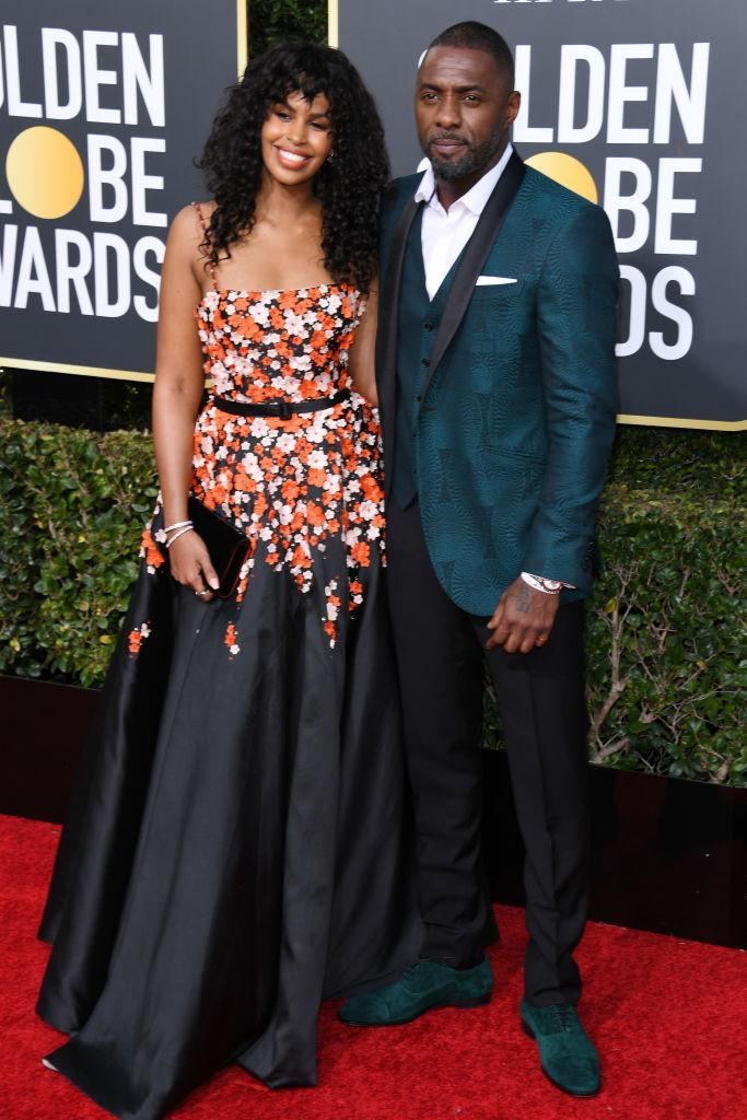 <p>Presenter Idris Elba and <span>fiancée </span>Sabrina Dhowr attend the 76th Annual Golden Globe Awards at the Beverly Hilton Hotel in Beverly Hills, Calif., on Jan. 6, 2019. (Photo: Getty Images) </p>
