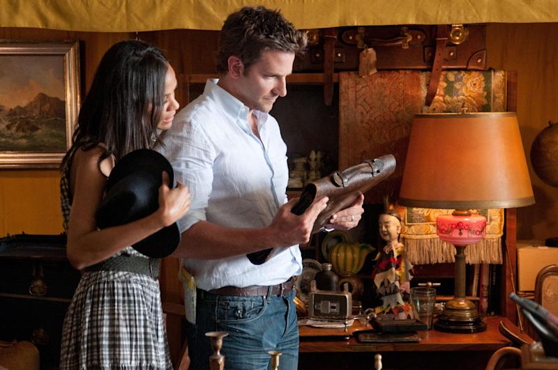 """This film image released by CBS Films shows Bradley Cooper, right, and Zoë Saldana in a scene from """"The Words."""" (AP Photo/CBS Films, Jonathan Wenk)"""