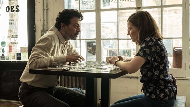 Irrfan Khan as Robert and Kelly Macdonald as Agnes Photo by Linda Kallerus, Courtesy of Sony Picture