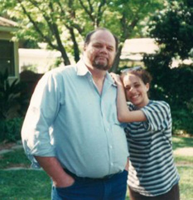Meghan, as a teenager, with her father [Photo: Splash]