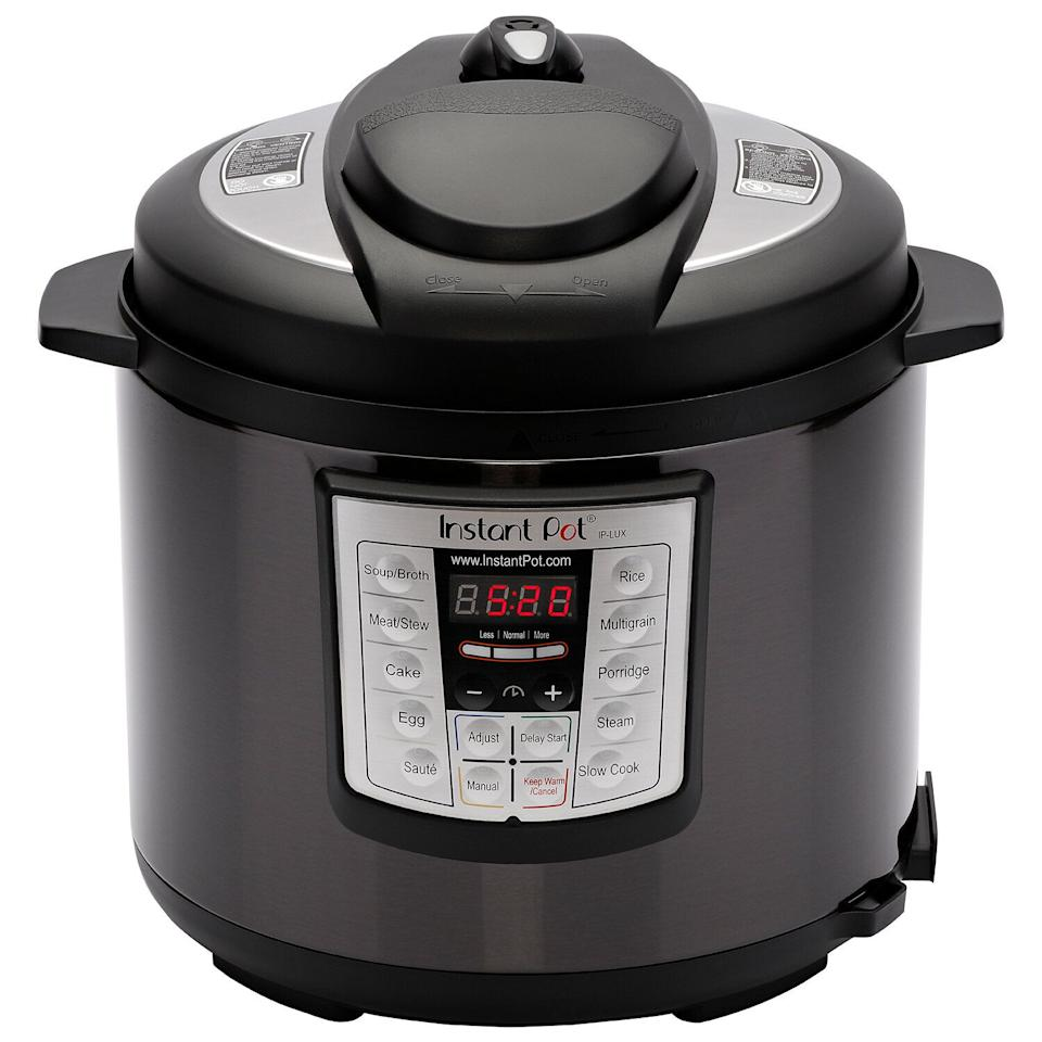 Instant Pot Lux60 Black Stainless Steel 6 Qt. 6-in-1 Multi Use Pressure Cooker (Photo: Walmart)