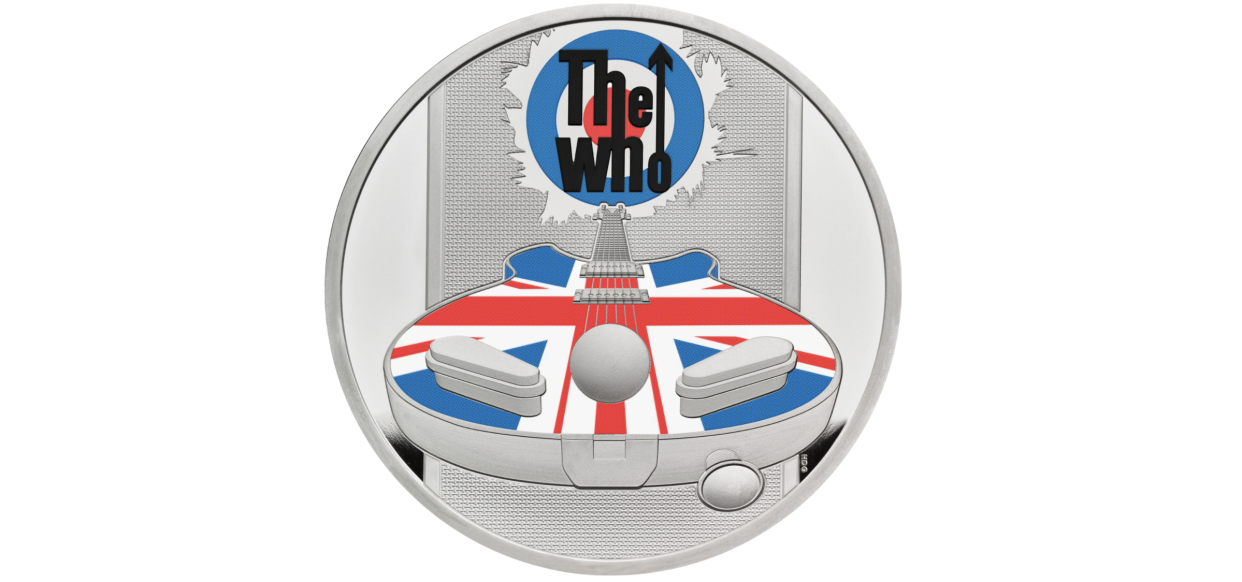 One of the coins from The Who collection. (Royal Mint)
