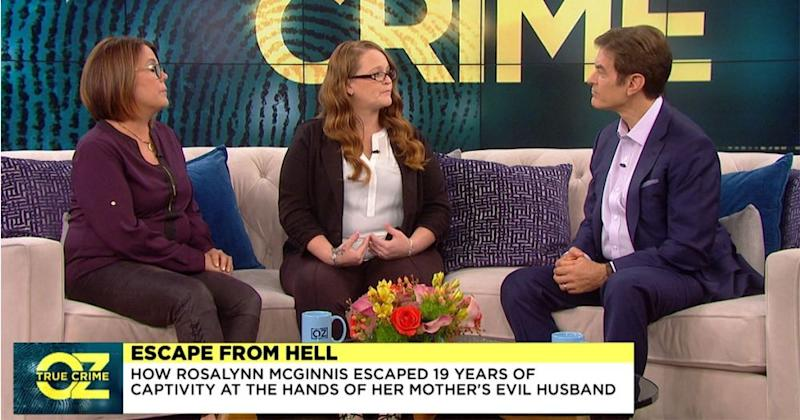 Rosalynn McGinnis, at center, with Dr. Mehmet Oz | Sony Pictures Television