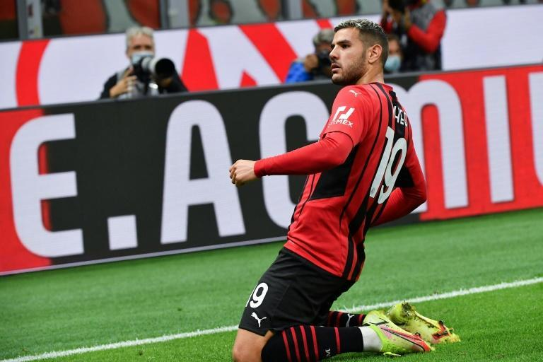 Theo Hernandez's goal against Venezia was his first of the season for AC Milan (AFP/Tiziana FABI)