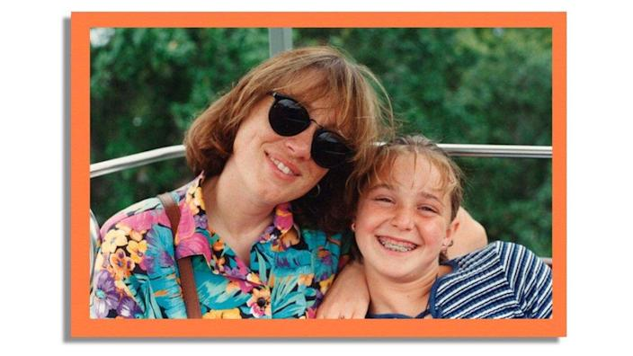 Image shows Erica Harvey with her mother Cynthia Clark Harvey smiling in family photograph