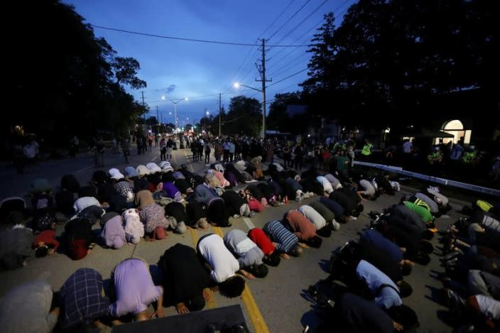 FILE PHOTO: Vigil organised after Canadian Muslim family was killed in hate crime by man driving pickup truck, in London, Ontario