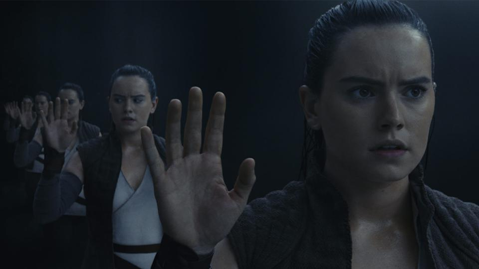 Rey sees herself in the mirror (credit: Disney)