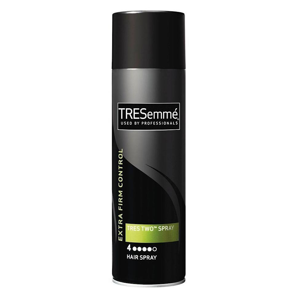 """<p><strong>Tresemme</strong></p><p>ulta.com</p><p><strong>$5.99</strong></p><p><a href=""""https://go.redirectingat.com?id=74968X1596630&url=https%3A%2F%2Fwww.ulta.com%2Ftres-two-extra-hold-hair-spray%3FproductId%3Dprod2041373&sref=https%3A%2F%2Fwww.elle.com%2Fbeauty%2Fhair%2Fg35599042%2Ffall-2021-hair-trends%2F"""" rel=""""nofollow noopener"""" target=""""_blank"""" data-ylk=""""slk:Shop Now"""" class=""""link rapid-noclick-resp"""">Shop Now</a></p>"""