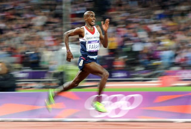 On a day dubbed 'Super Saturday' Mo Farah powers to victory in the 10,000m at London 2012. Within the same hour, Jessica Ennis and Greg Rutherford won in the heptathlon and long jump respectively, with Team GB claiming six golds over the course of the day. Farah followed up his success a week later by claiming gold in the 5,000m (Owen Humphreys/PA)