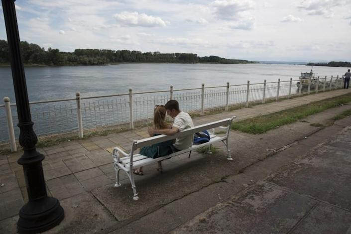 "The boardwalk along the Danube in Vidin, a city in a region of Bulgaria that is experiencing rapid depopulation. <span class=""copyright"">(Jodi Hilton / For The Times)</span>"