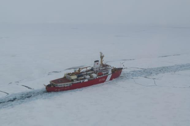 CCGS Louis S. St-Laurent, shown on Sept. 18, 2016, is the Canadian Coast Guard's current flagship. (Submitted by Natural Resources Canada - image credit)