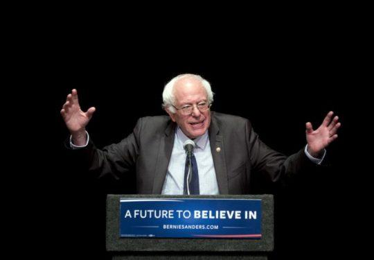 """Bernie Sanders delivers his """"Where We Go From Here"""" speech on June 24 in Albany, N.Y. (Photo: Mike Groll/AP)"""