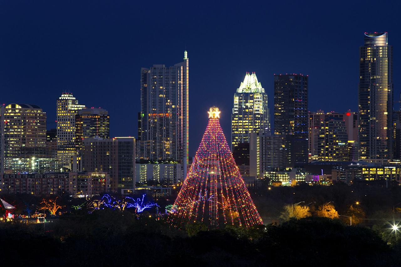 """<p><strong>Why we go:</strong> Proving you don't need cold temperatures to get in the Christmas spirit, <a href=""""https://www.cntraveler.com/destinations/austin?mbid=synd_yahoo_rss"""" target=""""_blank"""">Austin's</a> holiday celebrations put most northern cities to shame. Most notable is the <a href=""""https://austintrailoflights.org/"""" target=""""_blank"""">Austin Trail of Lights</a>, an annual festival that includes 2 million lights and 90 holiday trees (2019 marks its 55th anniversary). The event is even better this year, with the addition of Trail of Flights—a new, perfectly-named wine bar offering a variety of premium sips.</p> <p><strong>The one thing to get you in the spirit:</strong> Throwing a few back at one of Austin's decked-out bars, including the Secret Bar at <a href=""""https://www.cntraveler.com/hotels/united-states/austin/w-hotel?mbid=synd_yahoo_rss"""" target=""""_blank"""">W Austin</a> and Gibson Street Bar.</p> <p><strong>Stay here:</strong> It doesn't get more authentically Texan—or festive—than <a href=""""https://www.cntraveler.com/hotels/united-states/austin/the-driskill-austin?mbid=synd_yahoo_rss"""">The Driskill</a>, with its Christmas dinner and decked-out tree in the grand lobby.</p>"""