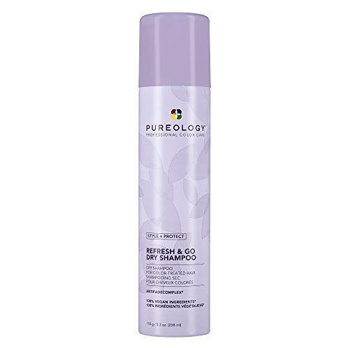 """<p><strong>Pureology</strong></p><p>amazon.com</p><p><strong>$28.00</strong></p><p><a href=""""https://www.amazon.com/dp/B0899M4KCH?tag=syn-yahoo-20&ascsubtag=%5Bartid%7C2164.g.36801161%5Bsrc%7Cyahoo-us"""" rel=""""nofollow noopener"""" target=""""_blank"""" data-ylk=""""slk:Shop Now"""" class=""""link rapid-noclick-resp"""">Shop Now</a></p><p>Powered by rice starch and imbued with notes of tuberose, almond milk, and cedar wood, this non-drying yet volumizing formula works wonders on lifeless, oily hair. Plus, like all of Pureology's products, it's color-safe!</p>"""