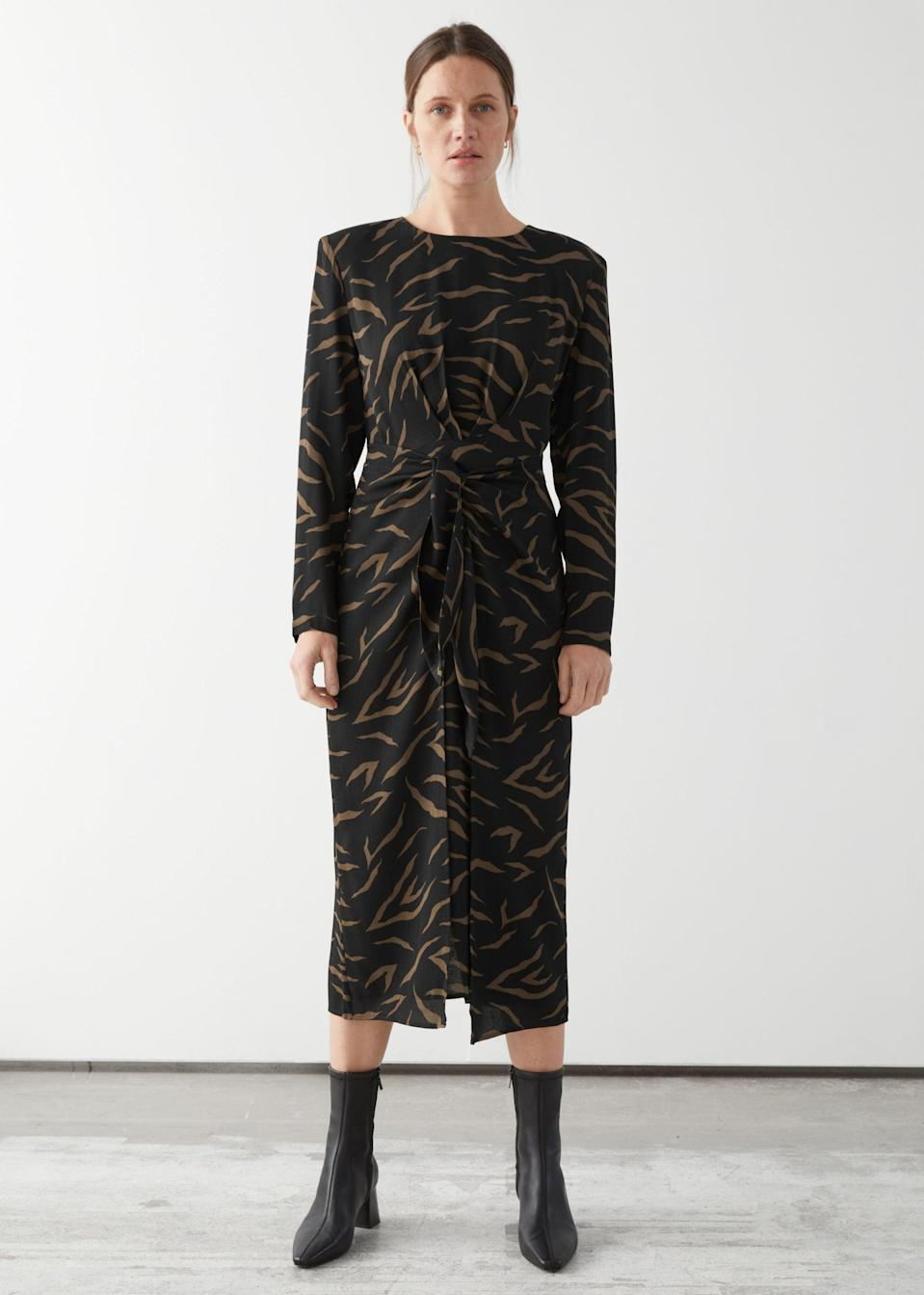 <p>This <span>&amp; Other Stories Midi Slit Wrap Dress</span> ($64, originally $129) will take you from the office to happy hour in style.</p>